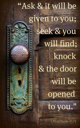 Seek and ye shall